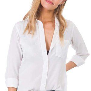 Women's long sleeve slim button silk T-shirt